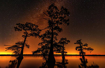 Photograph - Atchafalaya Basin On Fire by Andy Crawford