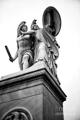 Photograph - Athena Protects The Young Hero Berlin by John Rizzuto
