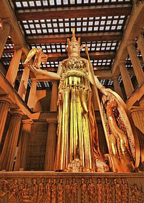 Photograph - Athena Statue # 2 - Nashville by Allen Beatty