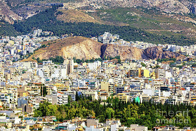 Photograph - Athens Cityscape Number 7 by John Rizzuto