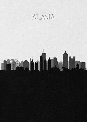 Drawing - Atlanta Cityscape Art V2 by Inspirowl Design