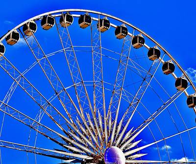 Photograph - Atlanta Ferris Wheel by Eileen Brymer