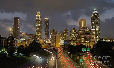 Photograph - Atlanta From The Bridge Atlanta Sunset Cityscape Art by Reid Callaway