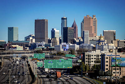 Photograph - Atlanta Ga Skyline From South by Sanjeev Singhal