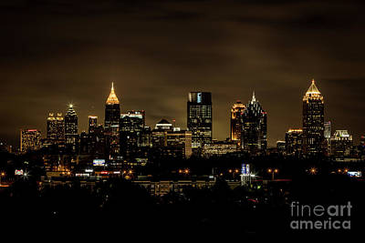 Photograph - Atlanta Ga Skyline Night by Sanjeev Singhal