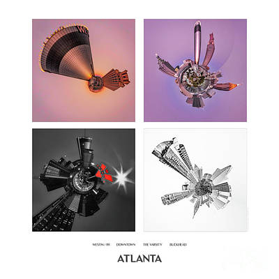 Photograph - Atlanta Quad Print by Doug Sturgess