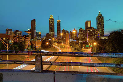 Royalty-Free and Rights-Managed Images - Atlanta Skyline over Jackson Street Bridge by Gregory Ballos