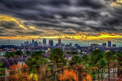 Photograph - Atlanta The Beautiful Skyline Capital Of The South Georgia Landscape Art by Reid Callaway