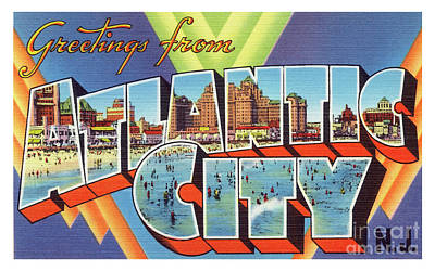 Photograph - Atlantic City Greetings #4 by Mark Miller