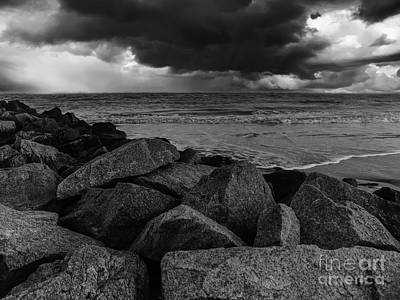 Photograph - Atlantic Ocean - Storm Clouds by Dale Powell