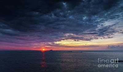 Photograph - Atlantic Ocean Sunset by Pablo Avanzini