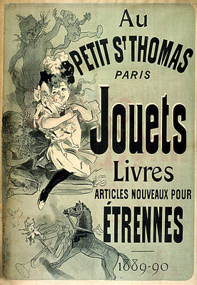Painting - Au Petit S Thomas Paris Jouets Livres by Vintage French Advertising