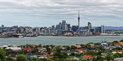Photograph - Auckland Skyline by KJ Swan