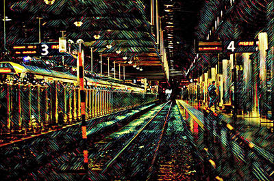 Mixed Media - Auckland Underground by Susan Maxwell Schmidt