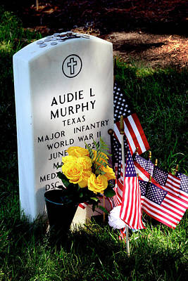 Photograph - Audie Murphy At Arlington by Paul W Faust - Impressions of Light