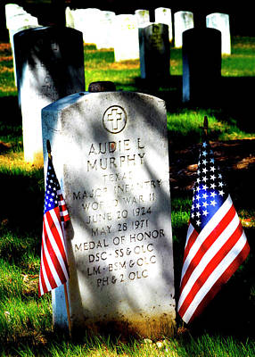 Photograph - Audie Murphy - Most Decorated Hero by Paul W Faust - Impressions of Light