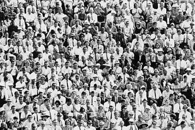 Photograph - Audience Seated Outdoors In The 1960s by Alfred Gescheidt