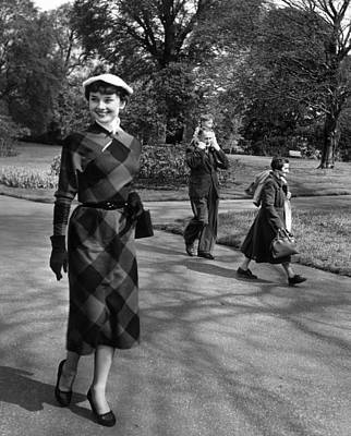 Photograph - Audrey At Kew by Bert Hardy