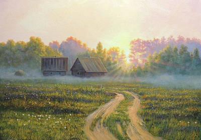Wall Art - Painting - August Fog by Oleg Riabchuk