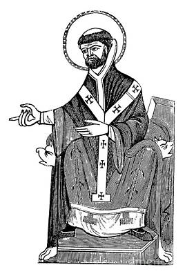 Drawing - Augustine Of Hippo by English School