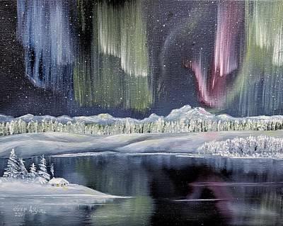 Painting - Aurora Borealis by Deleas Kilgore