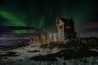 Photograph - Aurora Borealis Over Harstad by Kai Mueller