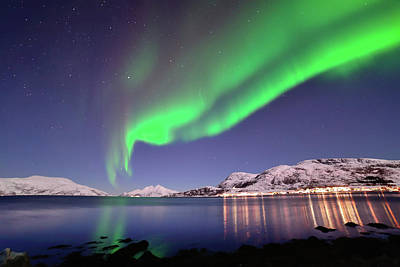 Photograph - Aurora In Skulsfjord by John Hemmingsen