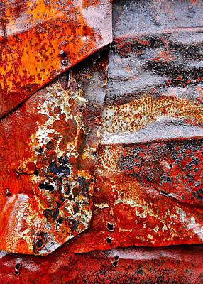 Photograph - Aussie Galvanised Iron #41 by Lexa Harpell
