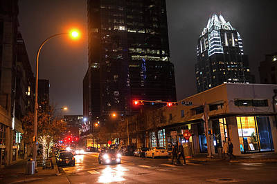 Photograph - Austin At Night The Streets Of Austin Tx Texas Downtown by Toby McGuire
