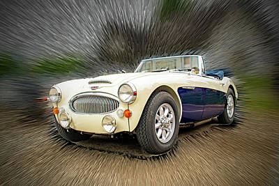 Ira Marcus Royalty-Free and Rights-Managed Images - Austin Healey 3000MKIII by Ira Marcus