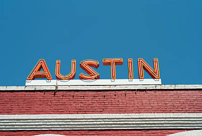 Sunlight Photograph - Austin Neon Sign by Austinartist