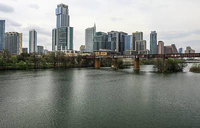 Photograph - Austin Skyline Reflection by Dan Sproul