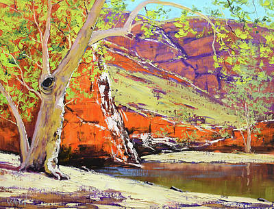 Modern Man Mountains - Australian Outback Gum by Graham Gercken