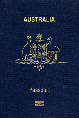 Digital Art - Australian Passport Cover  by Serge Averbukh