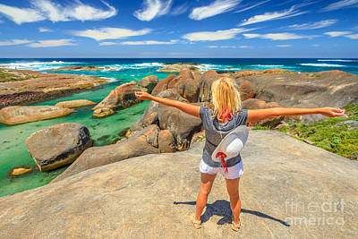 Photograph - Australian Woman Enjoying by Benny Marty