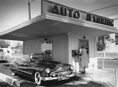 Photograph - Auto Banking by Kurt Hutton
