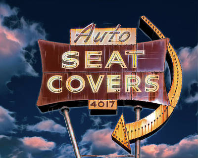 Photograph - Auto Seat Covers by Robert FERD Frank