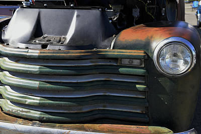 Photograph - Auto With Rust Patina by Kae Cheatham