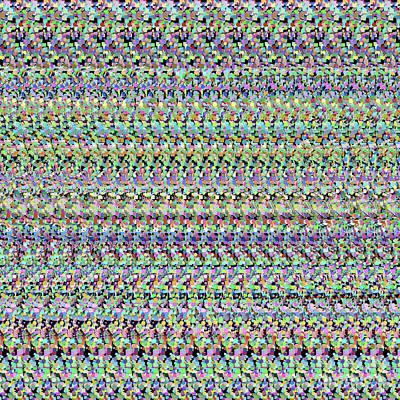 Digital Art - Autostereogram Rotavirus Multicoloured by Russell Kightley