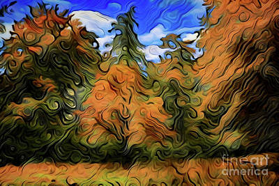 Painting - Autumn A18-170 by Ray Shrewsberry