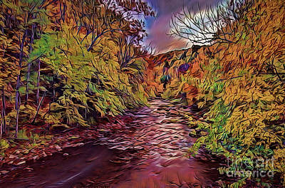 Painting - Autumn A18-49 by Ray Shrewsberry