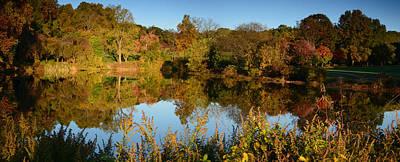 Photograph - Autumn Along The Pond - Holmdel Park  by Angie Tirado