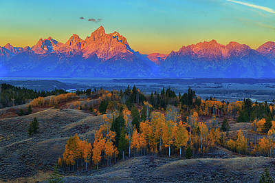Photograph - Autumn Alpenglow by Greg Norrell