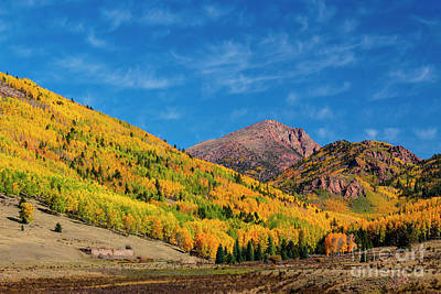 Photograph - Autumn And Cirrus Clouds On Pikes Peak by Steve Krull