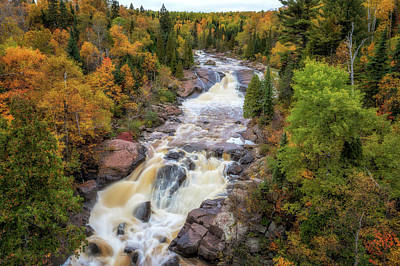 Photograph - Autumn At Beaver River Falls by Susan Rissi Tregoning