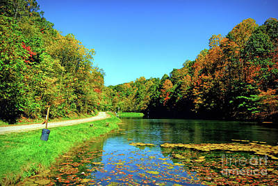 Photograph - Autumn At Izaak Walton Park - Christiansburg Virginia by Kerri Farley