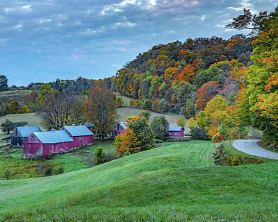 Thomas Kinkade Royalty Free Images - Autumn at Jenne Farm Royalty-Free Image by Hershey Art Images
