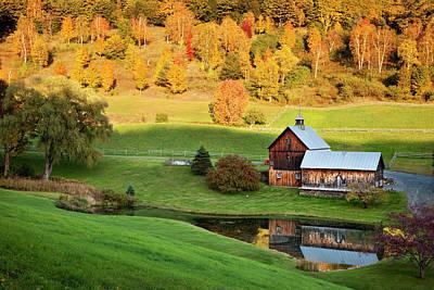 Autumn Photograph - Autumn At Sleepy Hollow Farm, Vermont by Danita Delimont