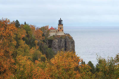 Photograph - Autumn At Split Rock Lighthouse by Susan Rissi Tregoning