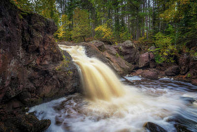 Photograph - Autumn At The Amnicon River Upper Falls by Susan Rissi Tregoning